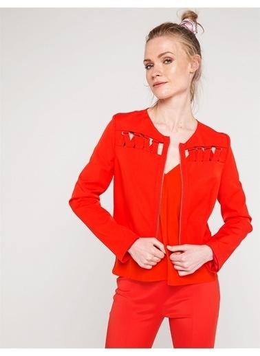 Love'n Fashion Paris Çapraz Biye Detaylı Ceket Bordo